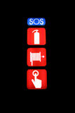 SOS backlight sign Stock Image