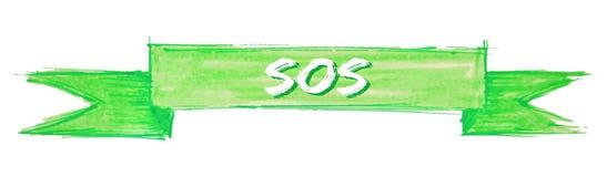 sos-band royaltyfri illustrationer
