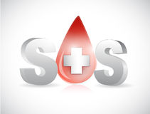 Sos blood illustration design Stock Photography