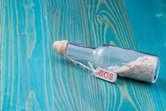 Sos bottle Royalty Free Stock Image