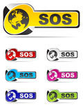 Sos buttons Stock Photos