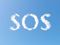 SOS clouds royalty free illustration