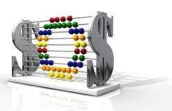 SOS Debt Abacus Royalty Free Stock Photography
