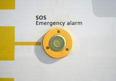 SOS Emergency. Signalpost alarm button stock photography