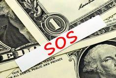SOS financeiro Fotos de Stock