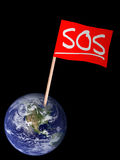 SOS global concern concept - environment or other Stock Photos