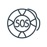 Sos icon vector isolated on white background, Sos sign vector illustration
