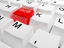 Sos keyboard Stock Photo