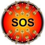 Sos-knapp Arkivfoto