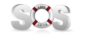 SOS Life Saver Royalty Free Stock Image