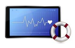 SOS lifeline medical wealth illustration Royalty Free Stock Images
