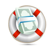 Sos lifesaver and bills illustration design Stock Photography