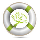 Sos lifesaver eco environment i Stock Images