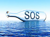 Sos Royalty Free Stock Image