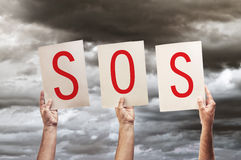 SOS message Stock Photography