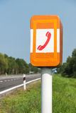 SOS Phone on the road. SOS Phone fro emergency calls on the roadside stock photos