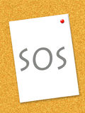 SOS post-it Royalty Free Stock Photography