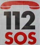 SOS przeciwawaryjna liczba zdjęcia stock