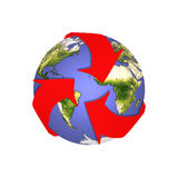 SOS Recycle Earth Stock Photo