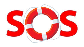 Sos Red Stock Image