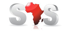 SOS - Save africa / Vector. SOS - Save Africa. Vector file available Royalty Free Stock Photo