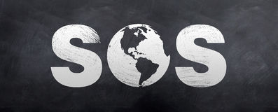 SOS Save our Soles Royalty Free Stock Photos