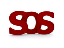 SOS sign Royalty Free Stock Photos