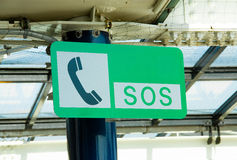 SOS sign. SOS sign was mounted on a pole royalty free stock photography