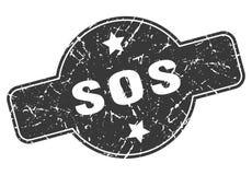Sos-st?mpel vektor illustrationer