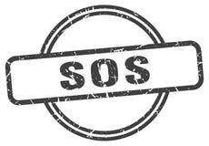 Sos-st?mpel stock illustrationer