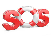 SOS symbol with lifebelt Royalty Free Stock Photography