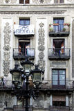 SOS Venezuela. Elegant balcony in Barcelona with the sign SOS Venezuela Stock Photos