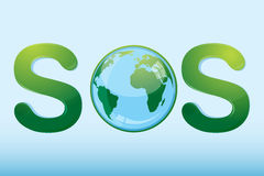 Sos With Globe Stock Image