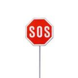 SOS znak fotografia stock
