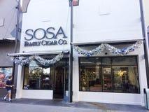 Sosa Family Cigar Company,迪斯尼春天,奥兰多, FL 库存照片