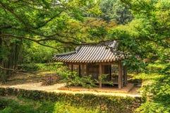 Sosewon pagoda in korea. Traditional Korean pagoda and temple. Taken in Sosewon, South Korea royalty free stock photos