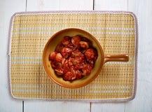 Sosis Bandari. Persian Sausage Breakfast royalty free stock photo