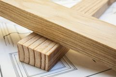 sosna zaszaluje drewno Obraz Stock