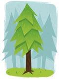 Sosnowa lasowa ilustracja Obrazy Royalty Free