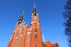 Sosnowiec. City in Upper Silesia (Gorny Slask) region of Poland. Saint Thomas church Stock Photos
