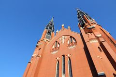 Sosnowiec. City in Zaglebie region of Poland. Saint Thomas church Stock Image