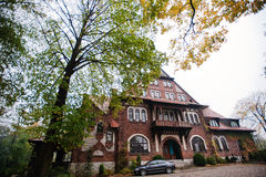 Sosnowiec Polen - Oktober 23, 2014: Audi S6 (Audi A6), bilpr Royaltyfri Bild