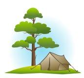 sosnowy namiot Zdjęcia Royalty Free