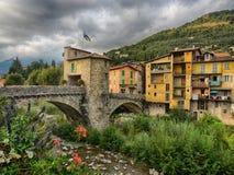 Sospel,中世纪镇,法国 图库摄影