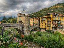 Sospel, medieval town, France. Sospel, the medieval town close to Italy in Provence, France stock photography