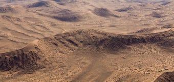 Sossusvlei,纳米比亚沙丘的Airwiev  库存图片