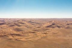 Sossusvlei,纳米比亚沙丘的Airwiev  库存照片