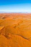 Sossusvlei,纳米比亚沙丘的Airwiev  免版税库存图片