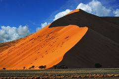Sossusvlei, национальный парк Namib Naukluft, Намибия Стоковое Фото