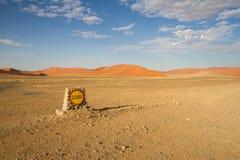 Sossusvlei desert, Namibia. The red dunes of Sossusvlei desert at the sunset, Namibia Royalty Free Stock Photography